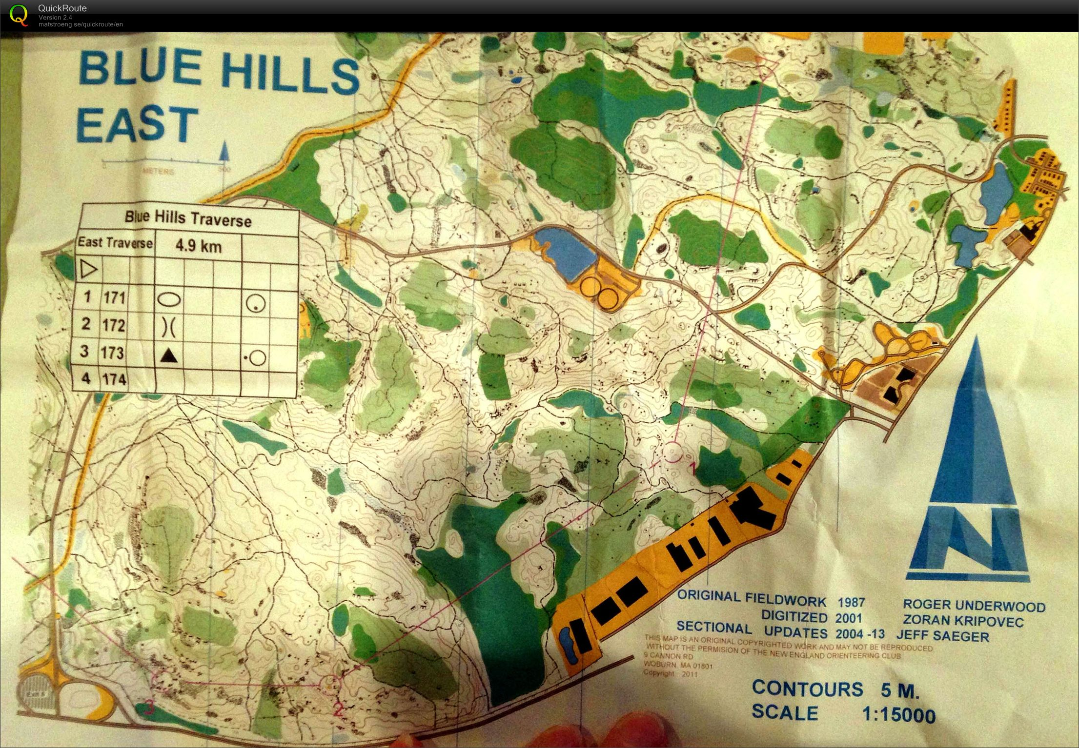 Blue Hills Traverse 2013 (map 1) (24/11/2013)