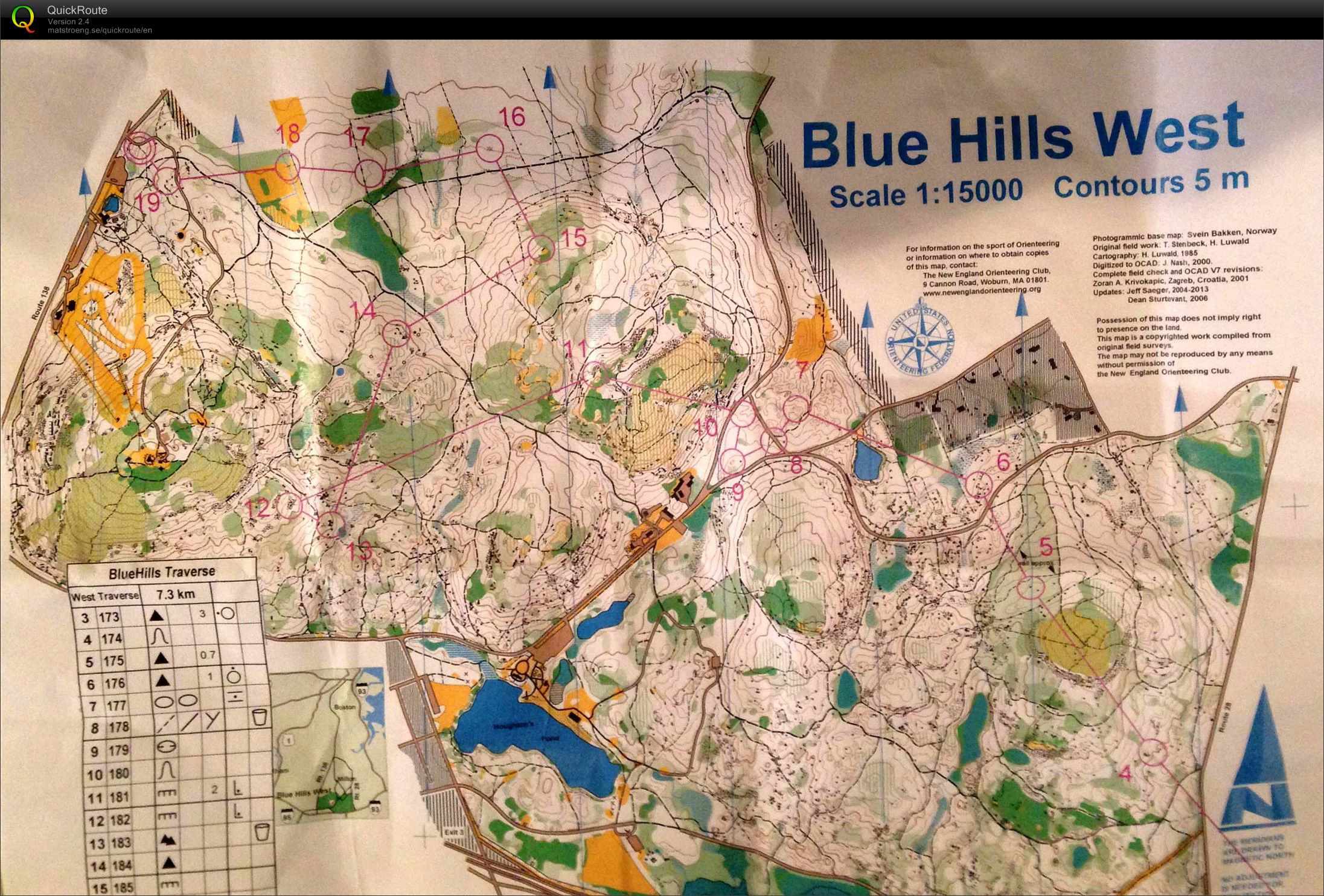 Blue Hills Traverse 2013 (Map 2) (24/11/2013)