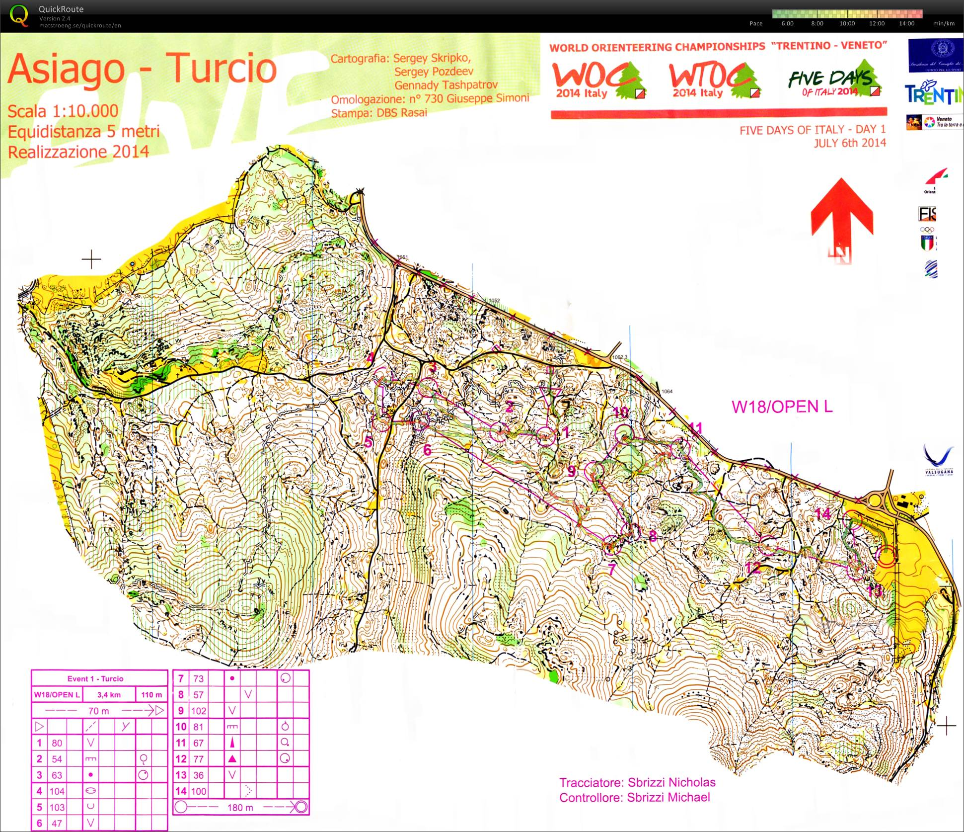 Italy 5 Days - Turcio middle distance (06/07/2014)