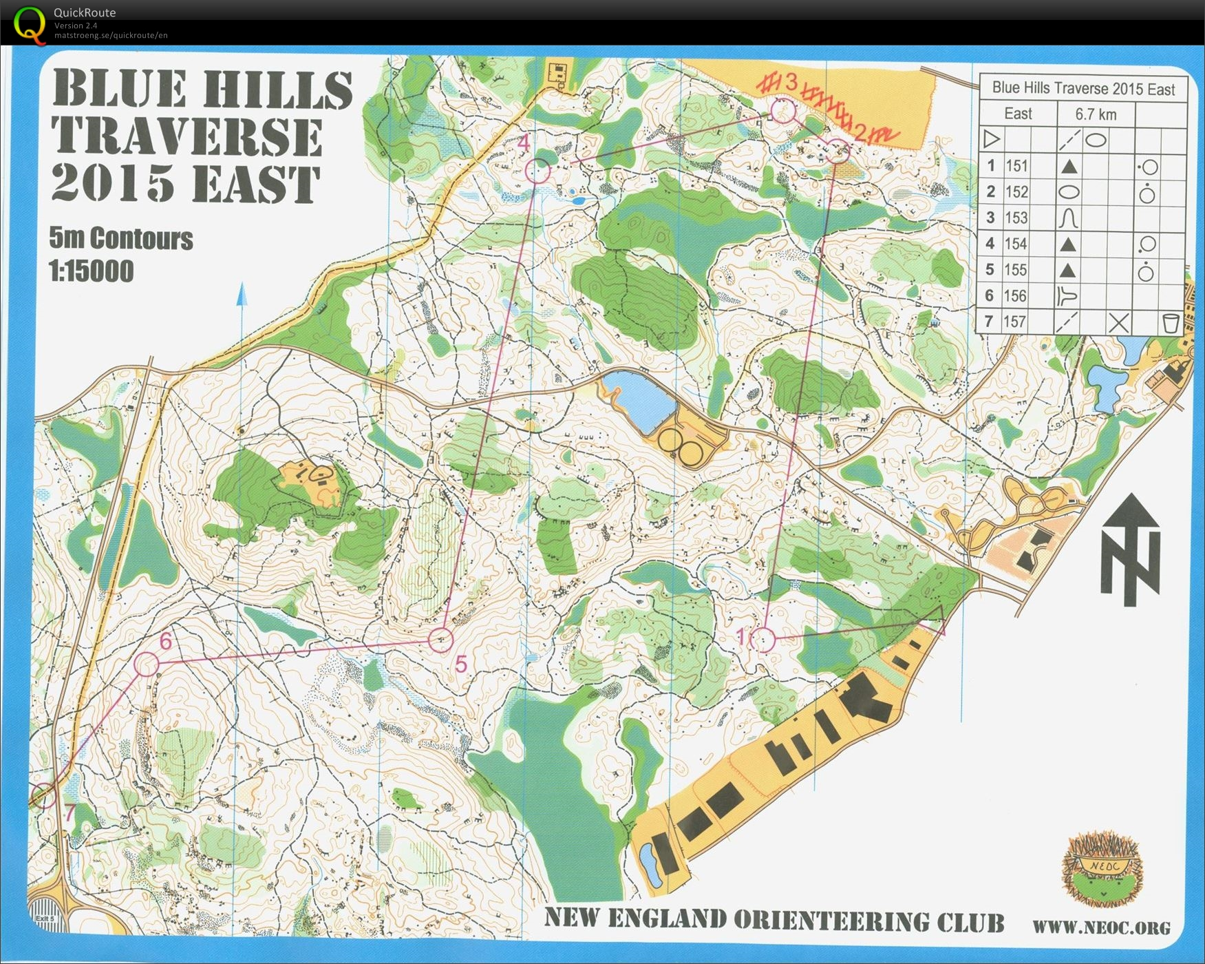 Blue Hills Traverse - East (22/11/2015)