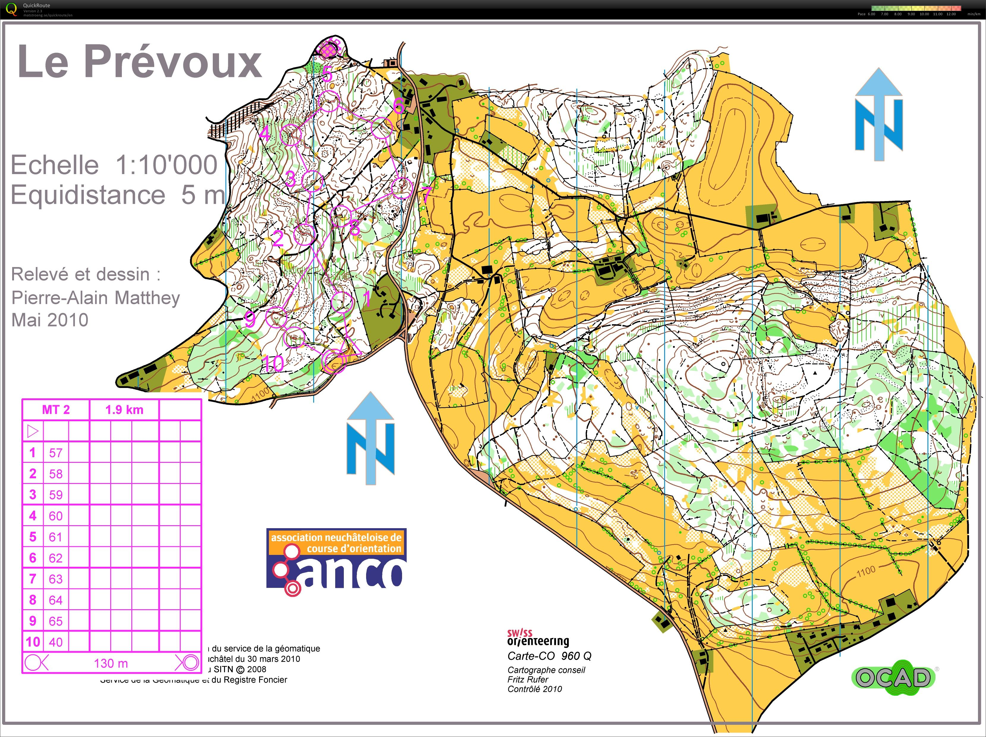 1st loop Training in Le Prévoux (2011-11-10)